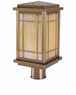 "Arroyo Craftsman Avenue 10"" Outdoor Post Lighting Fixture - Craftsman"