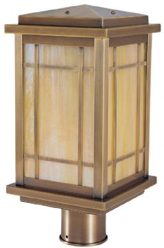 "Arroyo Craftsman Avenue 15"" Outdoor Post Lantern - Craftsman"