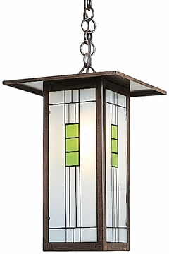 "Arroyo Craftsman Franklin 14"" Outdoor Hanging Lantern - Craftsman"