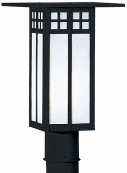 "Arroyo Craftsman Glasgow 18"" Outdoor Post Lamp - Craftsman"
