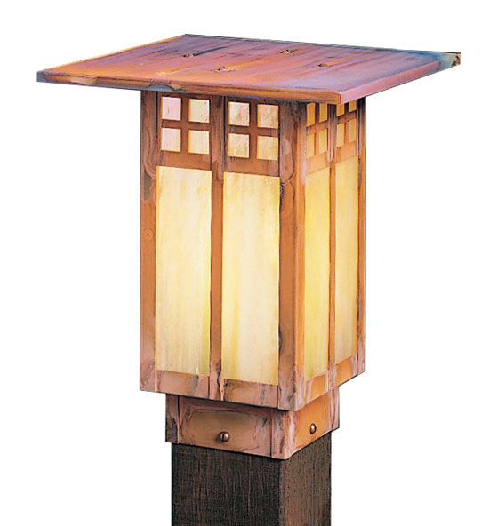 "Arroyo Craftsman Glasgow 9"" Outdoor Post Lighting Fixture"