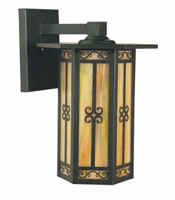 "Arroyo Craftsman Lily 11"" Outdoor Wall Lantern"