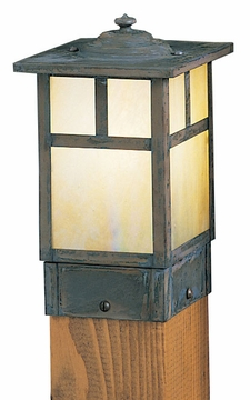 "Arroyo Craftsman Mission 6.75"" Outdoor Post Lamp - Craftsman"