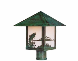 "Arroyo Craftsman Timber Ridge 10"" Outdoor Post Lighting Fixture"