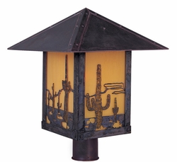 "Arroyo Craftsman Timber Ridge 12"" Outdoor Post Lighting Fixture"