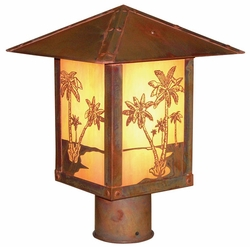 "Arroyo Craftsman Timber Ridge 15"" Outdoor Lamp Post"