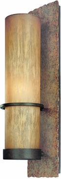 "Bamboo 19"" Contemporary Fluorescent Outdoor Wall Light by Troy BF1852BB"