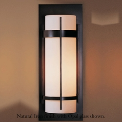 "Banded Large 20.8"" Exterior Wall Lighting Fixture By Hubbardton Forge"