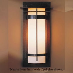 "Banded Medium 16.2"" Exterior Wall Light By Hubbardton Forge"