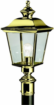 Bay Shore Outdoor Post Lantern By Kichler - Brass 9913PB