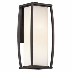 "Bowen 18"" Outdoor Wall Sconce By Kichler - Contemporary 49339AZ"