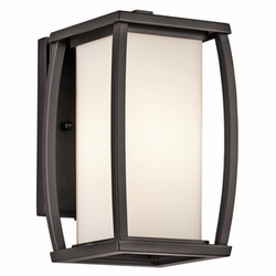 "Bowen 9.5"" Outdoor Wall Mount By Kichler - Contemporary 49336AZ"