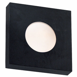 "Burst 10"" Exterior Wall/Ceiling Light By Kenroy Home - Black 72826BL"