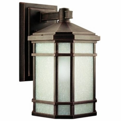 "Cameron 14.25"" Outdoor Wall Lighting By Kichler - Prairie Rock 9719PR"