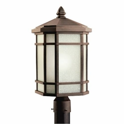 "Cameron 20"" Outdoor Lighting Post Lamp By Kichler - Prairie Rock 9902PR"