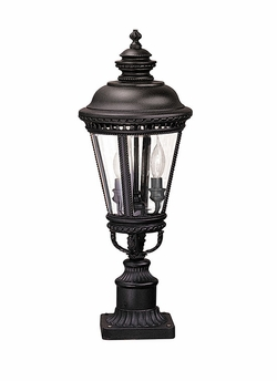 "Castle 22.25"" Outdoor Post Lighting Fixture By Murray Feiss - Black OL1907BK"