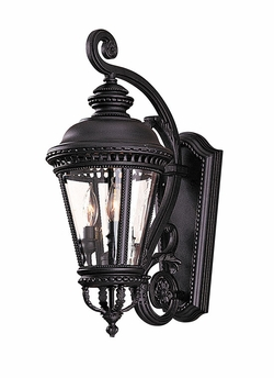 "Castle 22.5"" Outdoor Wall Lighting Fixture By Murray Feiss - Black OL1901BK"