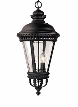"Castle 27.25"" Hanging Outdoor Light By Murray Feiss - Black OL1911BK"