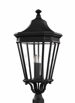 "Cotswold Lane 27.5"" Outdoor Post Lantern By Murray Feiss - Classic OL5408BK"