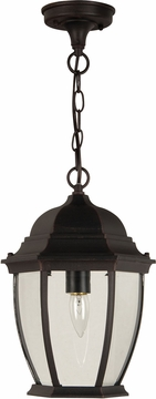 "Craftmade Bent Glass 14.5"" Outdoor Hanging Light Fixture - Rust Z281-07"
