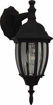 "Craftmade Bent Glass 16"" Outdoor Wall Sconce - Black Z264-05"
