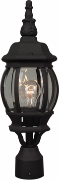 "Craftmade French Style 19.5"" Exterior Post Light - Black Z325-05"