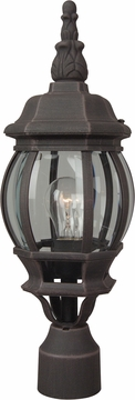 """Craftmade French Style 19.5"""" Outdoor Post Light Fixture - Rust Z325-07"""