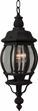 "Craftmade French Style 19"" Outdoor Pendant Light Fixture - Black Z321-05"