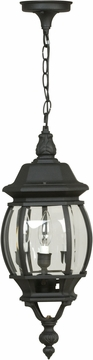 "Craftmade French Style 21.5"" Outdoor Lighting Pendant - Black Z331-05"