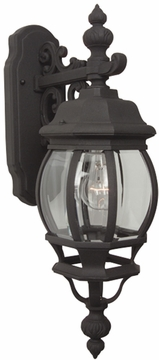 """Craftmade French Style 21.5"""" Outdoor Wall Lantern - Black Z324-05"""
