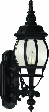 "Craftmade French Style 21.5"" Outdoor Wall Lighting Fixture - Black Z320-05"