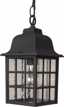 "Craftmade Grid Cage 11"" Outdoor Hanging Lighting - Black Z271-05"