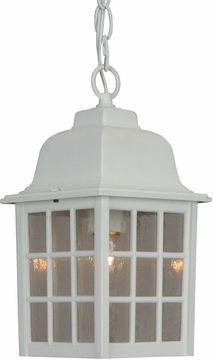 "Craftmade Grid Cage 11"" Outdoor Pendant - White Z271-04"