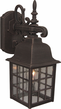 "Craftmade Grid Cage 15.13"" Exterior Wall Sconce - Rust Z270-07"