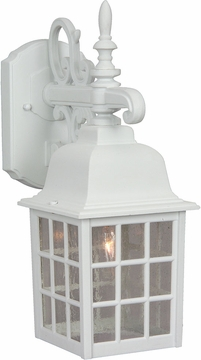 "Craftmade Grid Cage 15.13"" Outdoor Wall Lamp - White Z270-04"