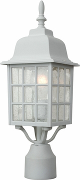 "Craftmade Grid Cage 17.9"" Exterior Post Lamp - White Z275-04"