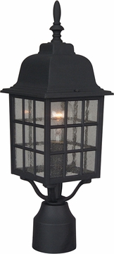 "Craftmade Grid Cage 17.9"" Exterior Post Light - Black Z275-05"