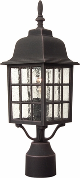"Craftmade Grid Cage 17.9"" Outdoor Post Light Fixture - Rust Z275-07"