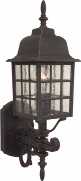 "Craftmade Grid Cage 20"" Outdoor Wall Lantern - Rust Z274-07"