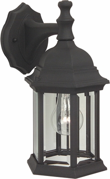 "Craftmade Hex Style 12.13"" Exterior Light Sconce - Black Z294-05"