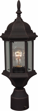 """Craftmade Hex Style 18.13"""" Exterior Post Lamp - Rust Z295-07"""