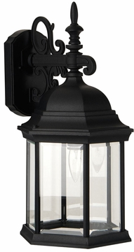 """Craftmade Hex Style 18.25"""" Outdoor Wall Lighting - Black Z694-05"""
