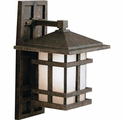 """Cross Creek 16"""" Mission Outdoor Wall Lantern by Kichler 9130AGZ"""