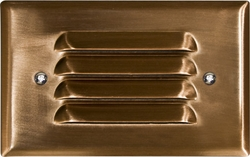 Dabmar Brass Recessed Louvered Brick/Step/Wall Light LV617-CP