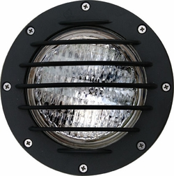 Dabmar Cast Aluminum In-Ground Well Light with Grill LV305-B-SLV