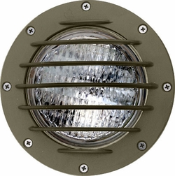 Dabmar Cast Aluminum In-Ground Well Light with Grill LV305-BZ-SLV