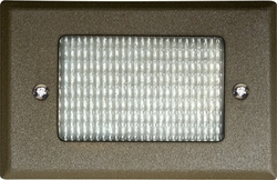 Dabmar Cast Aluminum Recessed Open Face Brick/Step/Wall Light LV618-BZ