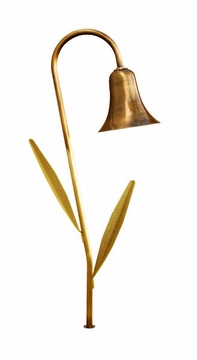 Dabmar Path Light with Decorative Leaves - Antique Brass LV215L-ABS