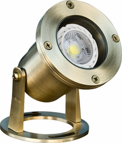 Dabmar Solid Brass LED Pond/Fountain Underwater Light LV323-LED3-BS