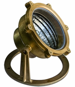 Dabmar Solid Brass Pond/Fountain Underwater Light LV308-BS